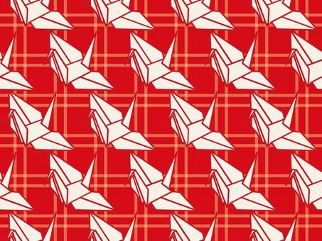Wallpaper Folded crane 01 Loop possible Red