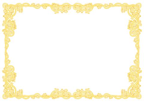 Arabesque pattern frame (vortex-arabesque yellow)