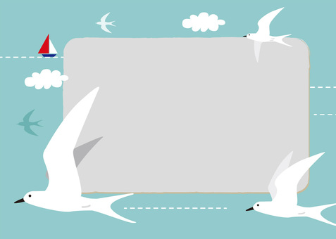 Flying bird and yacht _ Frame 2