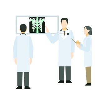 X-ray image and doctor