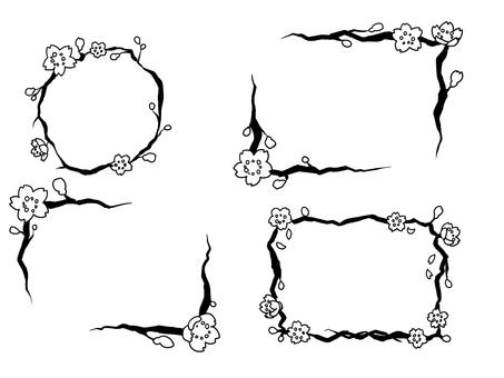 Cherry frame (black and white)
