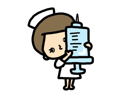 Nurse with injection