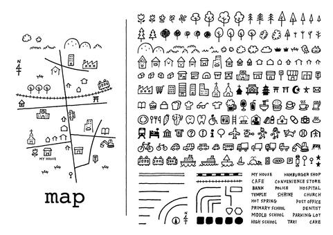 手描きマップ〈mono〉