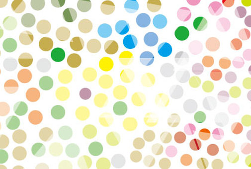 Colorful and cute polka dot pattern wallpaper