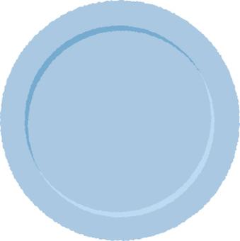 Plate light blue