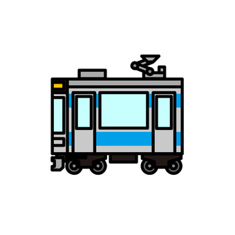 Illustration of a train (driven vehicle)