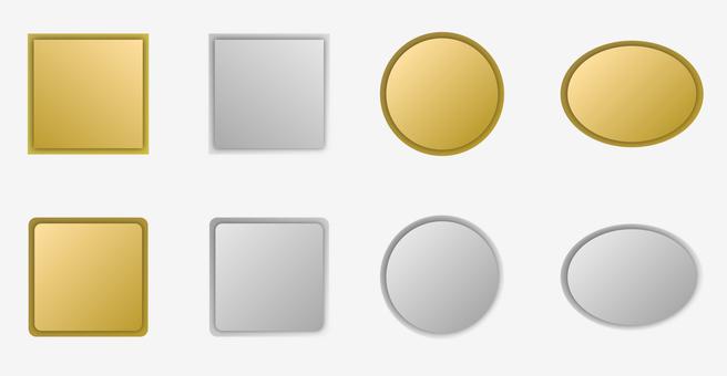 Metal plate material