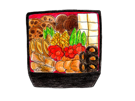 Osechi dish (three heavy)