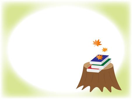 Book and stump illustration