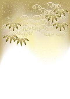 お正月笹の葉&青海波38