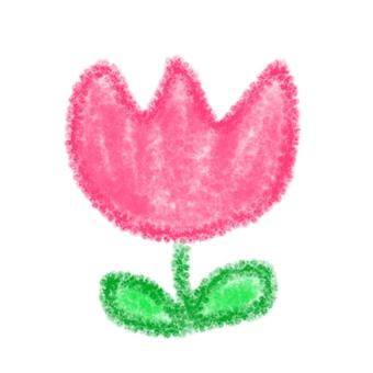 Illustration of crayonish tulip