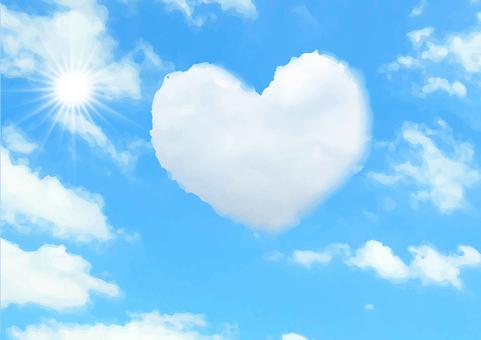 วัสดุพื้นหลังหัวใจเมฆ 2