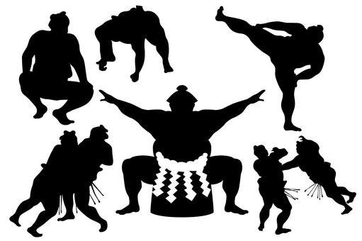 Sumo silhouette / black