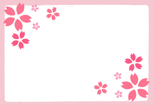 Cherry blossoms message card -5