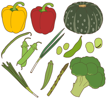 Vegetables (green yellow vegetables) 1/4