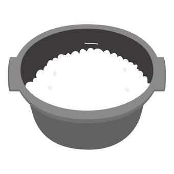 電飯煲/電飯煲中的米飯