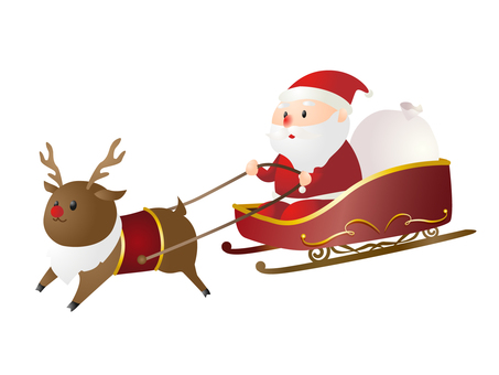 Santa Claus on a Sled