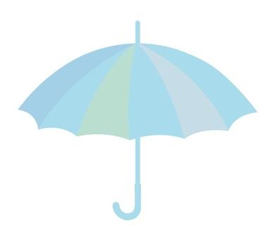 Illustration of a pastel color umbrella