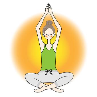 Yoga pose ladies