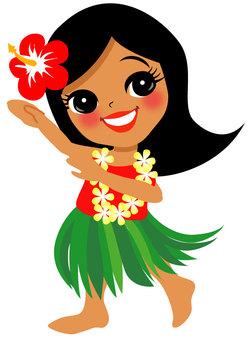 Hula Dance Hula Girl 035
