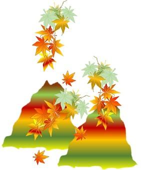 Mountain's autumn leaves