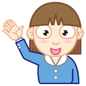 OL (hand raising)