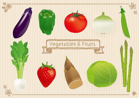 Spring and summer vegetables