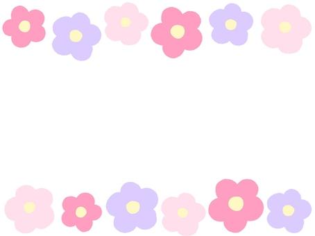 핑크 계열 꽃 프레임