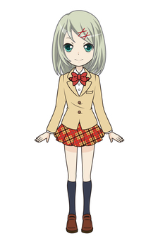 Female student beige (standing appearance 01)