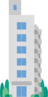 Building cliff pencil building