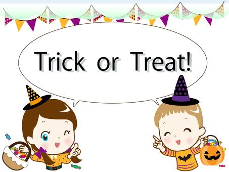 Halloween speech bubble trap or treat