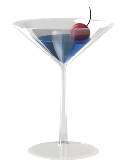Cocktail glass (Blue Hawaii)