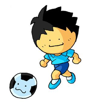Soccer boys blue shirt