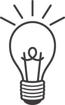Illustration of a light bulb monochrome