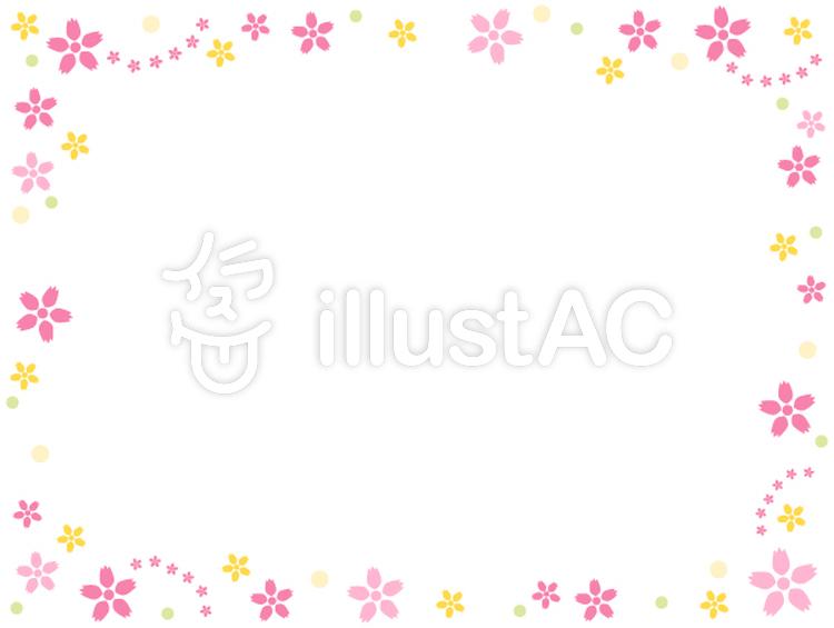かわいいお花のフレームイラスト No 384640無料イラストなら