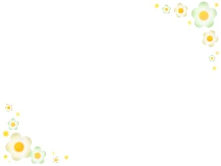 Flower frame (milky green)