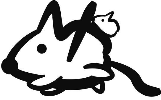飾り文字(ネズミ)