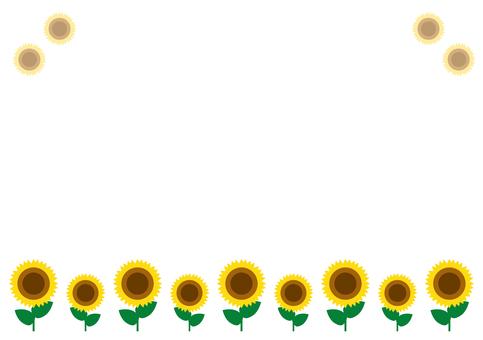 Sunflower A4 horizontal