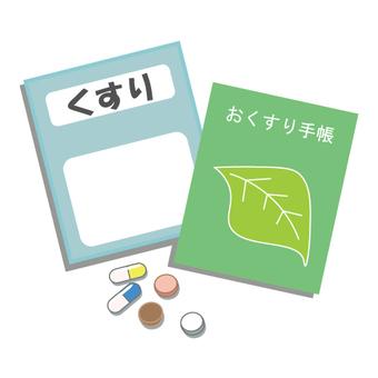 Image of prescription medicine and medicine notebook