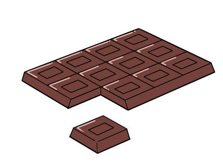 Broken plate chocolate