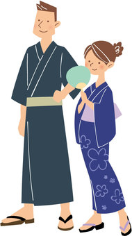 Couple in yukata