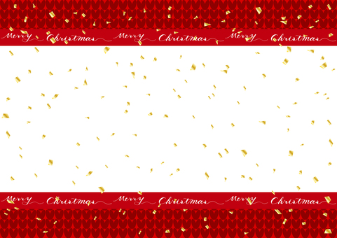Christmas gold confetti knitted background