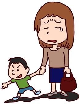 Single mother illustration