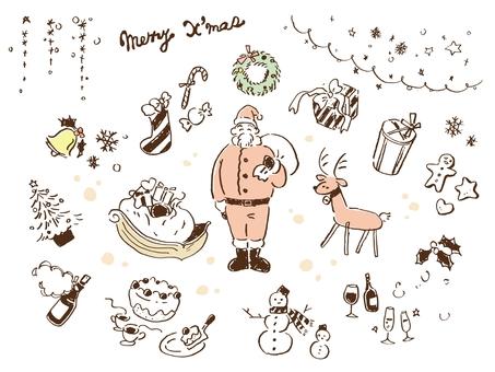 Hand drawn Christmas various
