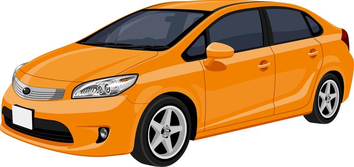 Car sedan Seven Orange