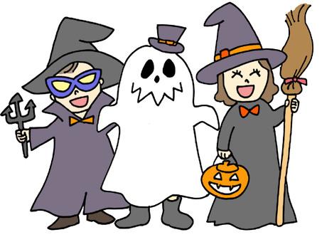 Halloween 3 children