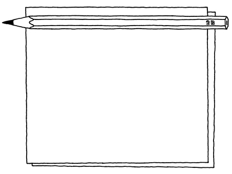 Notepad (double pencil) Black and white