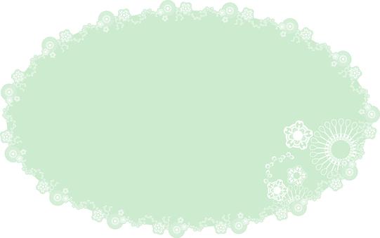 Mint color flower round frame