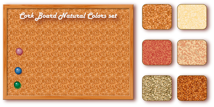 Cork board natural color