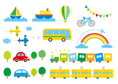 Vehicle set_Transportation summer color